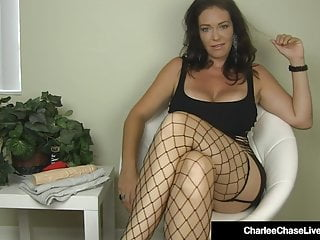 For big boobed girls - Big boobed milf charlee chase stuffs her muff with a dildo