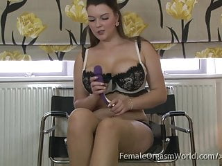 Has a real orgasm - Curvaceous big breasted babe masturbates to a real orgasm