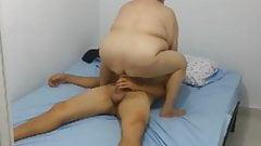 Hidden cam Granny fuck boy