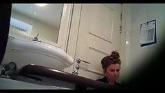 Hidden cam catches girl cumming on her break