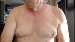 Dick96825 Sexy bearded grandfather Jack on cam compilation