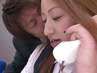 Japanese anal girls Horny guys fuck hot office girl with vibrators at work
