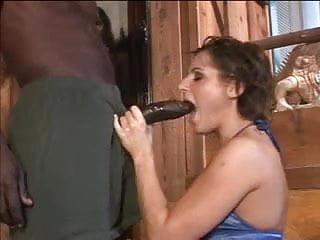 Asian country summit - Fun brunette enjoys two black schlongs in country vacation home read and comment