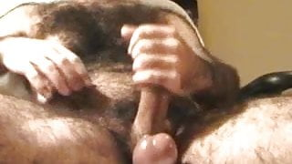 EXTREMELY HAIRY VERBAL DADDY CUMS ON HAIRY CHEST