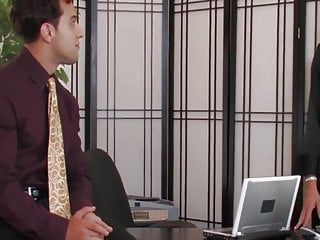 Sexy mff office Sexy mature milf fuck in the office with young boy