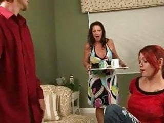 Girlfriend and mother porn Mother helps girlfriend give blowjob