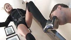 Stocking, heel lick Slave