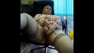 In the office