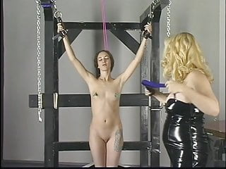 Bleach lesbian slash Dirty blonde with great ass gets donminated and spanked by a bleached blonde
