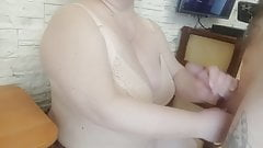 fucked a mature bbw woman between her tits and in her mouth1