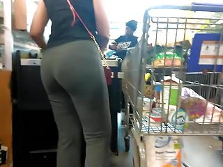 Mug shot sexy - Mean mugging milf ass checkout line