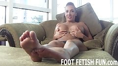 I will show off my amazingly sexy feet for you