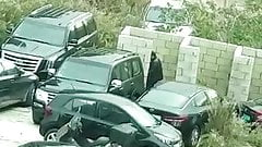 lebanese Muslim Girl With hijab fucked in public