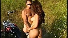 Outdoor Biker Couple