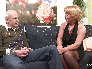 Grandmas porn tube Grandma and grandpa at porn casting because need cash german