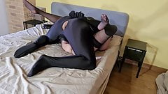 Bound Slave Fucks His Mistress And Licks His Own Cum