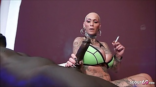 GERMAN FREAKY PORNSTAR KITTY CORE'S FIRST BBC MONSTER COCK SEX