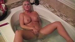 Sexy MILF Takes A Bath