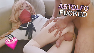 Femboy Slut Astolfo gets his ass destroyed and full of cum