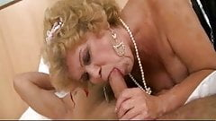 Hairy Grandma Wakes Up Young Man For Action