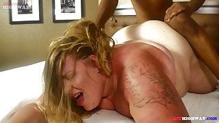 Babydoll BBW bounce on big black dick on BBWHighway.com