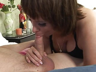 Milf nailed in kitchen Curvy milf gets facial after getting nailed in bed