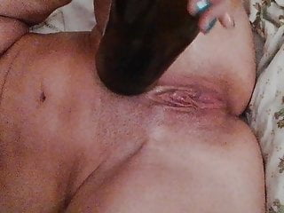 Vaginal insertion bottle vegetable masturbation Homealone - insertion bottle part 1 - selffucksession
