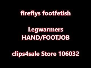 Adult baby fetishes - Fireflys legwarmers and baby blue polish footjob-handjob