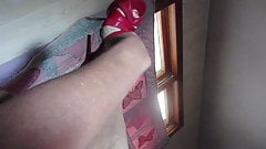 Teasing with my shoes having sex