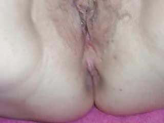 Condom on erect penis Wife empties condom on pussy