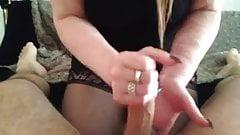 Sister giving me a hand job