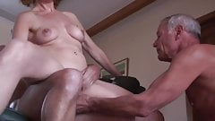 A wife makes her husband look at her sex with a young guy.