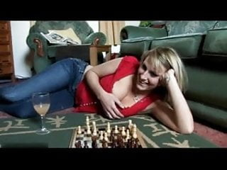 Vintage chess table - Downblouse playing chess