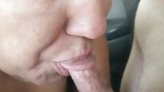 Gina the Hooker in: Car swallow fun!