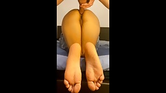 Perfect ass girlfriend doggystyle fucked - Nice feet view