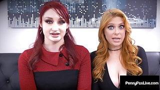 Step Siblings Penny Pax & Violet Monroe Milk Their Boss' Cock