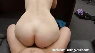 Fit Gamer Babe in Anal and Cum Swallow Casting