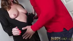 Sara seduced into sloppy dick sucking and balls deep riding