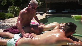 Uncle has threesome with cocks in asses and a pussy
