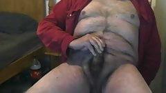 Horny Hairy Grandpa Wanks & Cums
