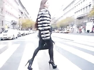 Most sexy sex tapes Most sexy girl in soft leather legging walking across street