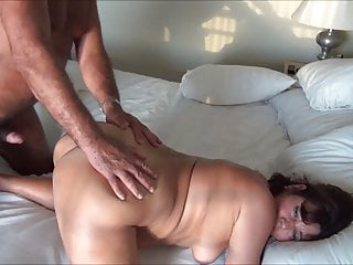 Size of his cock - Small sized guy trying to fuck his wife into any hole