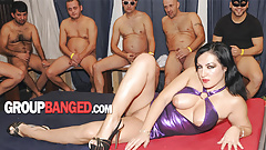 Gangbang whore fucked by a neighbor and his friends