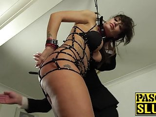 Young gay male spanked Uk sub loves to mix ropes with dominant males that bang her