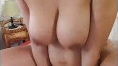 Pregnant hairy mom gets fucked and cummed on tits