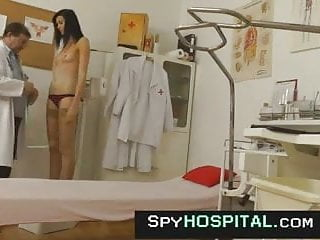Spying on his milf - Indecent doctor with his female patient on spy cam