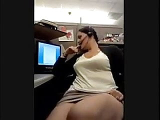 Work place lesbians - Hot milf bating at work place