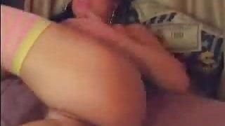 Hot Slut Fucks her Cunt and Ass