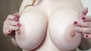 Big natural tits teasing, jiggly, bouncing tits