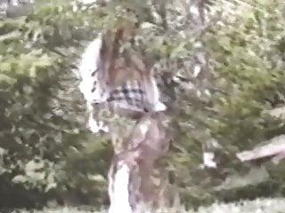 Laura bush bottom nudity Long hair brunette strips flashes in woods full bush